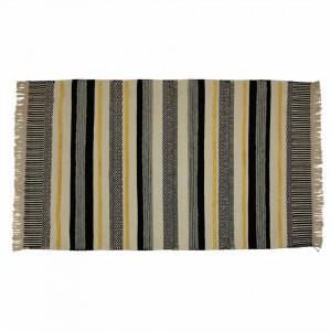 Covor negru/galben din lana si viscoza 120x170 cm Yamu Black Yellow Zago