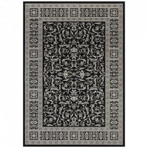 Covor negru/gri din bumbac si viscoza 160x230 cm Oriental Antique The Home
