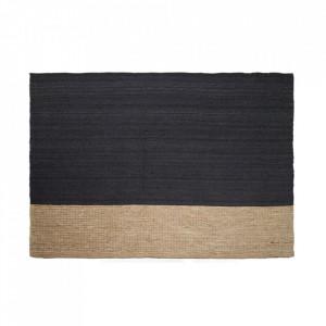 Covor negru/maro din iuta 170x240 cm Mosia LifeStyle Home Collection