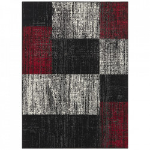 Covor negru/rosu din polipropilena Patchwork Design The Home (diverse dimensiuni)