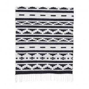 Covor New Inka 60x90 cm alb/negru House Doctor