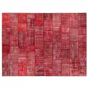 Covor rosu din lana 360x480 cm Vintage Patchwork Versmissen