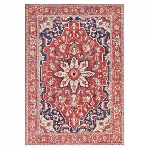 Covor rosu din poliester Imagination Tabriz Oriental Red Elle Decor (diverse dimensiuni)