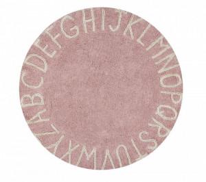 Covor rotund nude/crem din bumbac pentru copii 150 cm ABC Vinatge Nude-Natural Lorena Canals