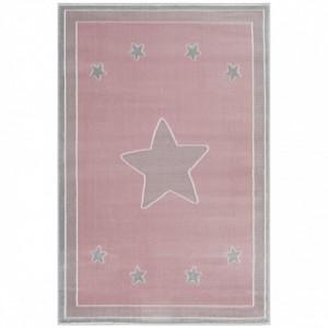 Covor roz/gri argintiu din iuta si polipropilena Princess Livone (diverse dimensiuni)