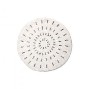Covoras pentru baie alb/negru din bumbac 80 cm Tania HK Living
