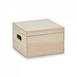 Cutie cu capac maro din lemn Cube Mini Zeller