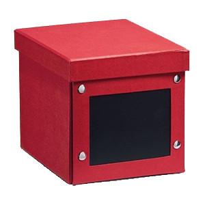 Cutie cu capac rosie din carton CD Box Zeller