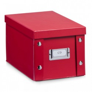 Cutie rosie cu capac din carton CD Box Kids Red Zeller