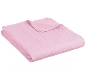 Cuvertura roz din poliester 180x260 cm Trendy Harris Unimasa