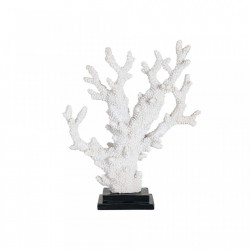 Decoratiune alba din polirasina 34 cm Coral Adam Richmond Interiors