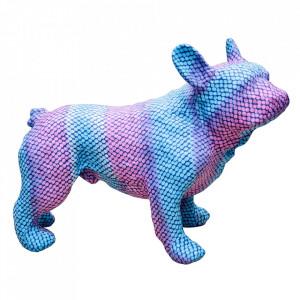 Decoratiune albastra/mov din papier mache 35 cm Bulldog Versmissen