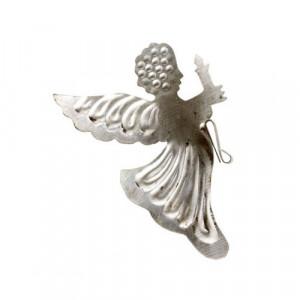 Decoratiune argintie din metal 9,5 cm Angel Bloomingville