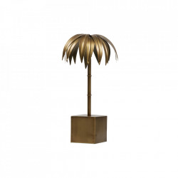 Decoratiune aurie din metal 40 cm Palm M Antique Be Pure Home