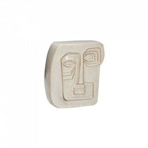 Decoratiune crem din ceramica pentru perete 18x20 cm Wall Art Beige Hubsch