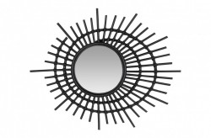 Decoratiune cu oglinda neagra din ratan pentru perete 75 cm Eye Versmissen