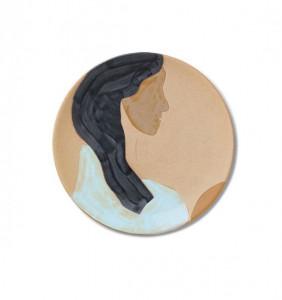 Decoratiune de perete multicolora din ceramica 37,5 cm Hessa Ferm Living