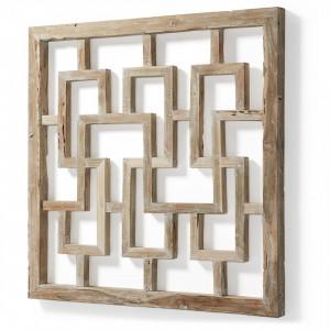 Decoratiune din lemn pentru perete 110x110 cm Lawrence La Forma