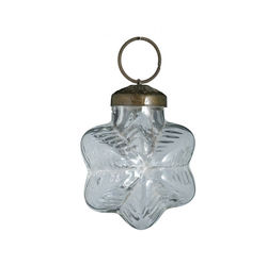 Decoratiune din sticla 5 cm transparent pentru Craciun Madam Stoltz