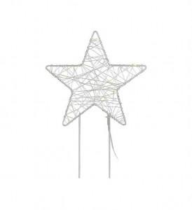 Decoratiune luminoasa LED argintie din metal Gardener Star Markslojd