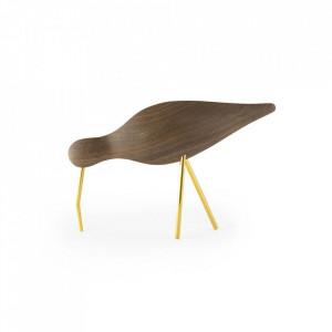 Decoratiune maro din lemn de nuc si otel 14 cm Shorebird Normann Copenhagen