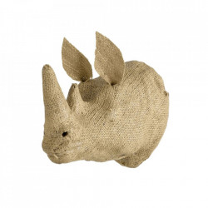 Decoratiune maro din panza de iuta pentru perete 13x30 cm Rhino Quax