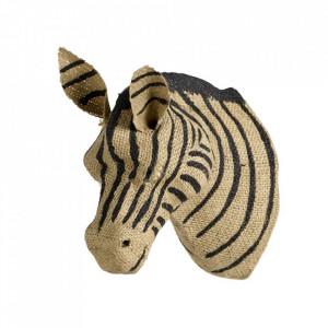 Decoratiune maro/neagra din panza de iuta pentru perete 11x18 cm Zebra Quax