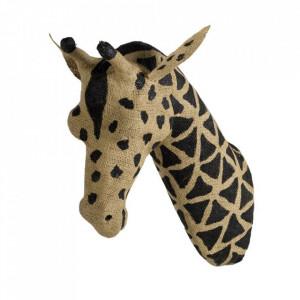 Decoratiune maro/neagra din panza de iuta pentru perete 8x26 cm Giraffe Quax