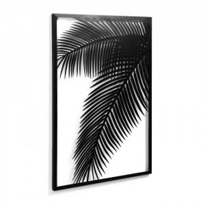 Decoratiune neagra din metal pentru perete 74x100 cm Dimpia La Forma