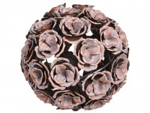 Decoratiune rotunda antichizata cupru 24 cm Ball Santiago Pons