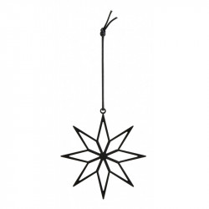 Decoratiune suspendabila neagra din fier Star Irony Small Nordal
