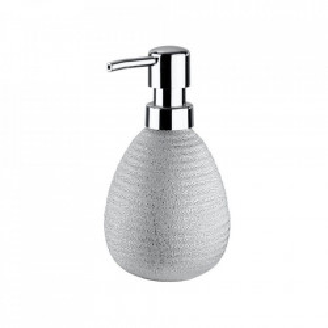 Dispenser argintiu din ceramica 390 ml Polaris Soap Juwel Wenko