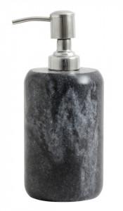 Dispenser negru/gri din marmura 8x13 cm Silver Soap Nordal