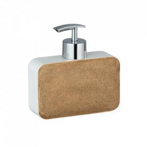 Dispenser sapun lichid bej/alb din polirasina 330 ml Ambila Wenko