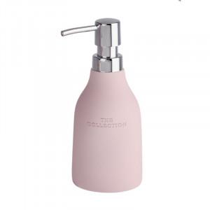 Dispenser sapun lichid roz din polirasina 330 ml Dorota Wenko