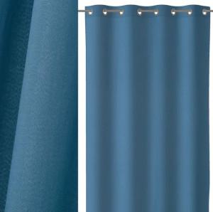 Draperie albastra din bumbac si poliester 140x260 cm Loving Colors Teresa Unimasa
