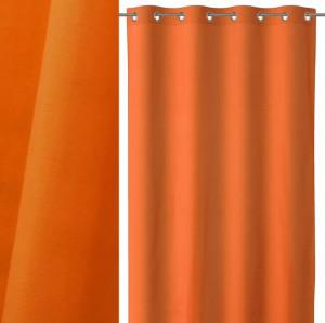 Draperie portocalie din bumbac si poliester 140x260 cm Loving Colors Teresa Unimasa
