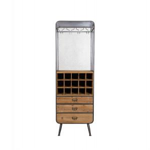 Dulap cu suport pentru sticle din metal si lemn 170 cm Vino Dutchbone
