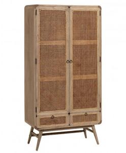 Dulap din lemn mindi si ratan 175 cm Nalu Kave Home