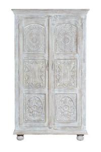 Dulap maro/alb din lemn de mango 200 cm Cottage Giner y Colomer