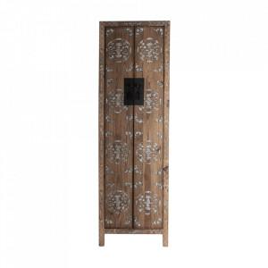 Dulap maro din lemn 210 cm Macao Vical Home