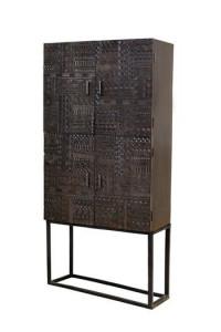 Dulap maro din lemn de mango si fier 176 cm Hieroglyph Giner y Colomer