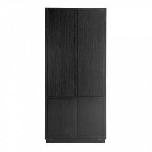 Dulap negru din lemn 220 cm Oakura Richmond Interiors