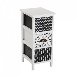 Dulapior alb/negru din lemn Lauren Mini Versa Home