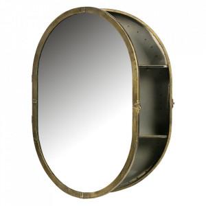 Dulapior cu oglinda auriu din fier 47x60 cm Unfold Be Pure Home