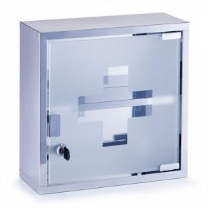 Dulapior gri din inox si sticla pentru medicamente Medicine Cabinet Zeller