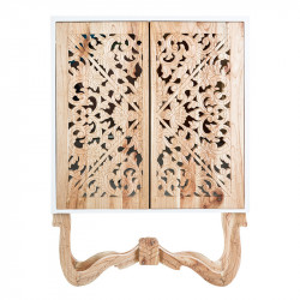Dulapior maro/alb din lemn si MDF Yumen Vical Home