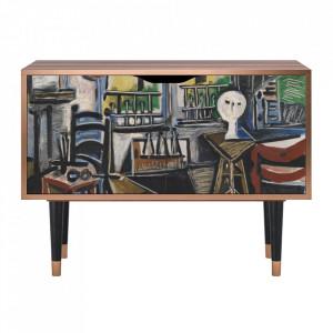 Dulapior multicolor din MDF si lemn The Studio By Pablo Picasso Clara Furny