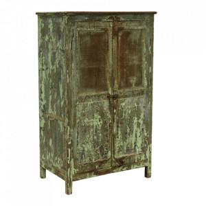 Dulapior verde/gri din lemn de tec Vangra Raw Materials