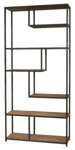 Etajera maro/negru din fier si lemn 213 cm Bilbao LifeStyle Home Collection
